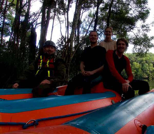 The rafting team at the end of the river