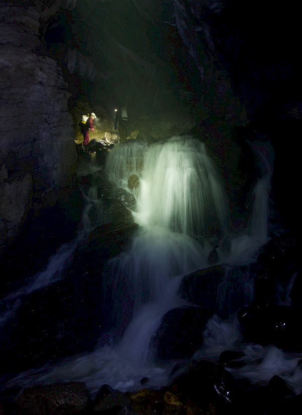 Large underground waterfall