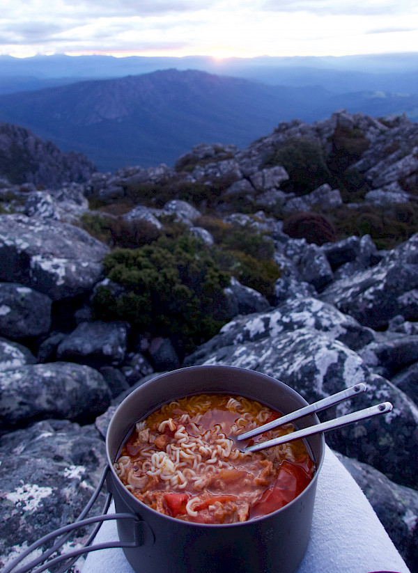 Bushwalking meal