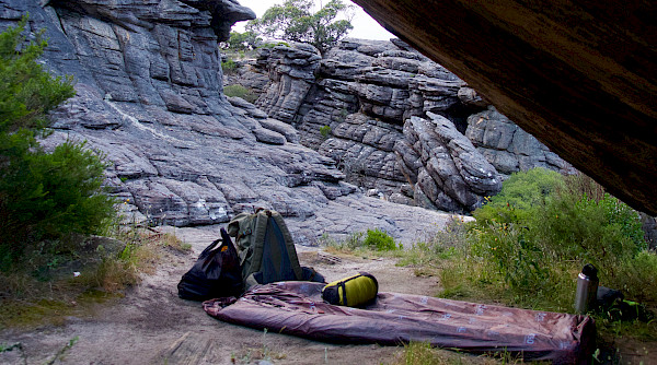 Typical bushwalking camp