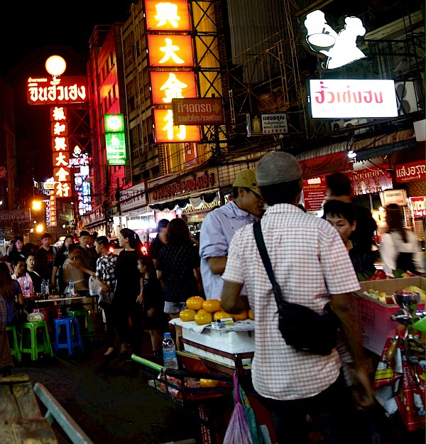 Crowded street in Chinatown, Bangkok