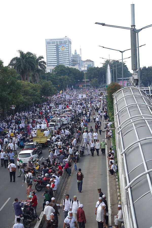 View of the Jakarta protest